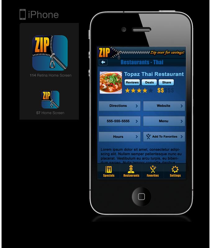 Zip Iphone Bluemarker