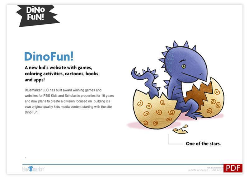 Bluemarker - Dino-Store UX
