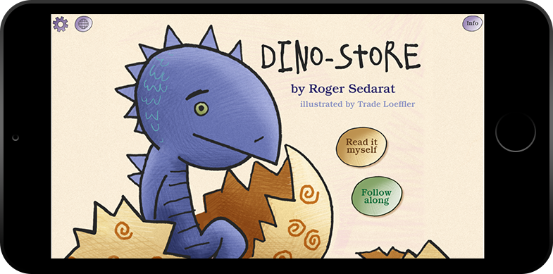 Dino-Store Storybook App by Bluemarker LLC