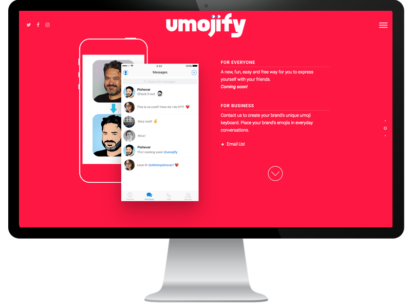 Umojify Website by Bluemarker LLC