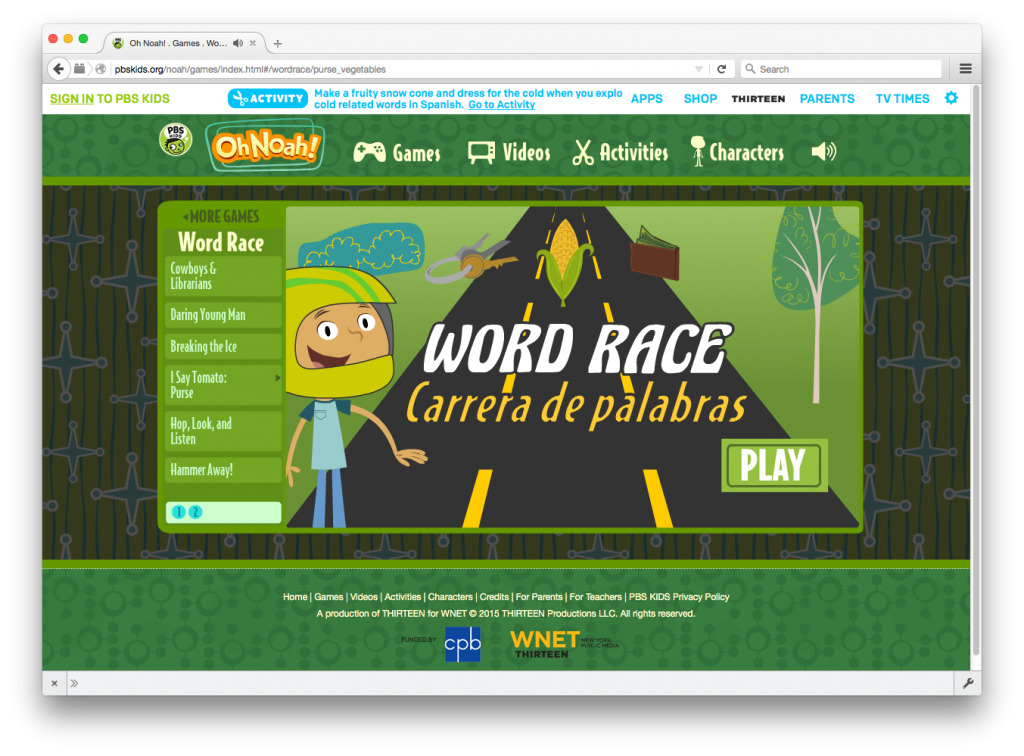 Oh Noah! - Word Race